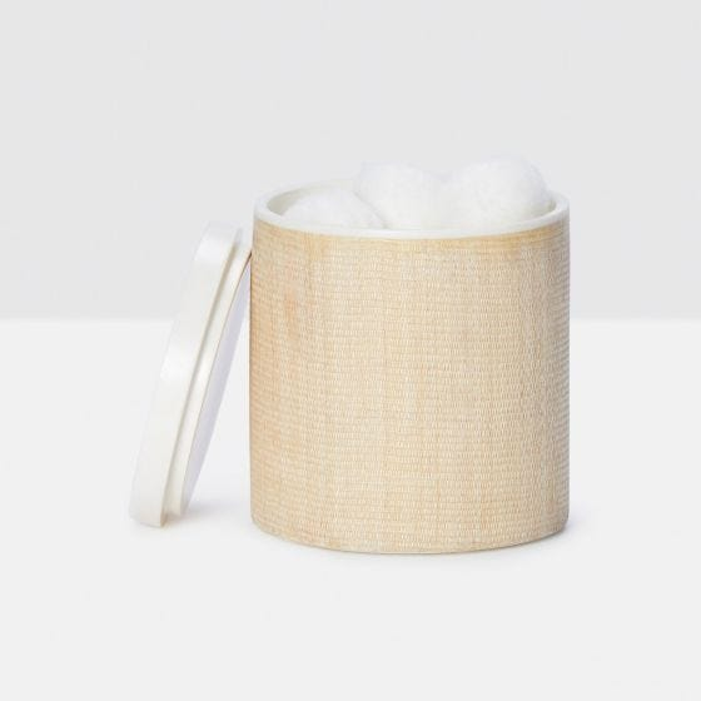 Beige Abaca/White Resin