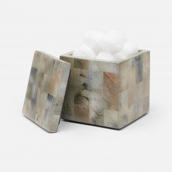 Gray Faux Marble Horn