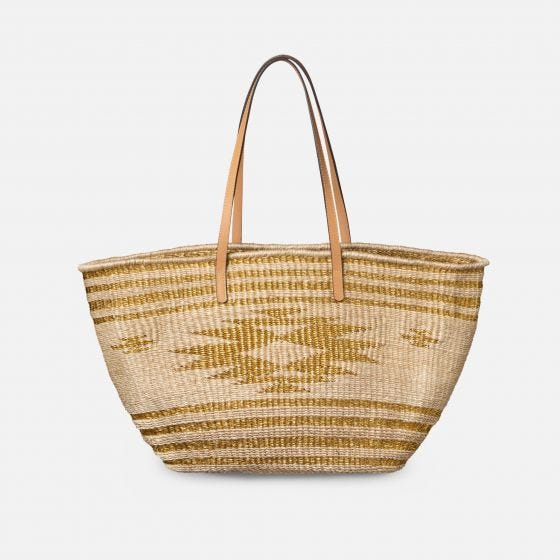 Bleached Abaca/Gold