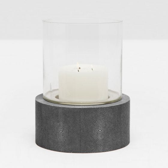 Cool Gray Realistic Faux Shagreen