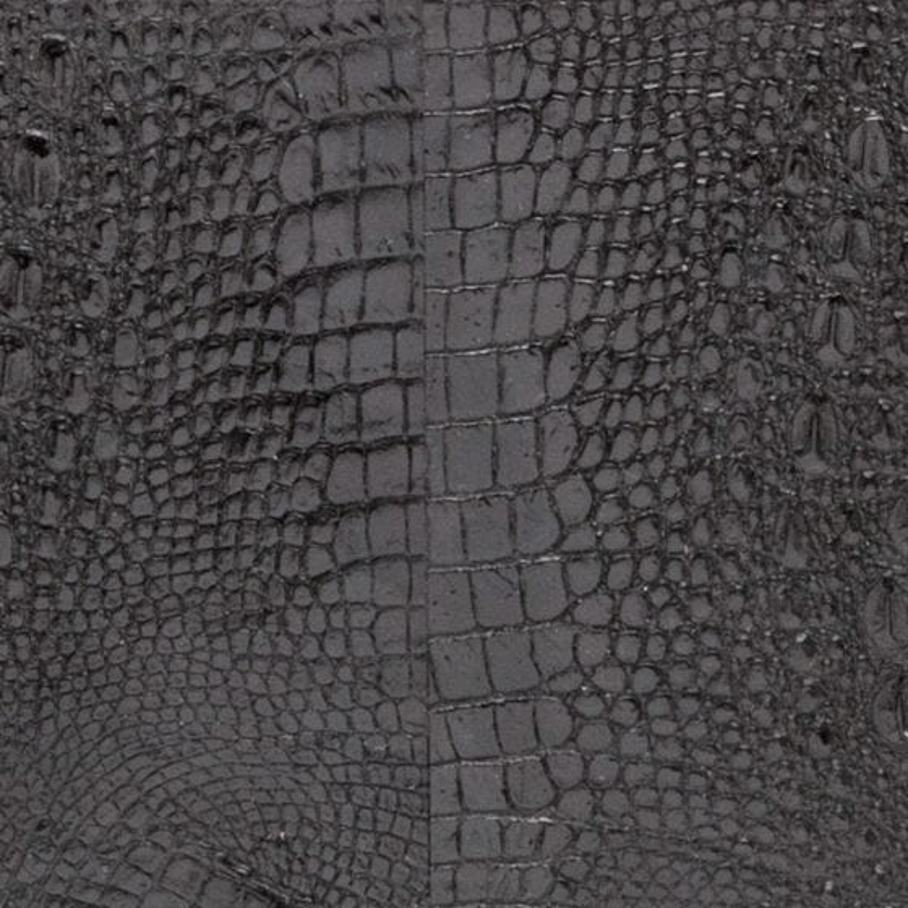 Black Faux Baby Crocodile