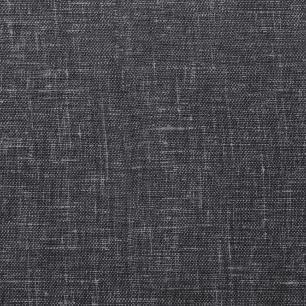 Charcoal Faux Linen Swatch