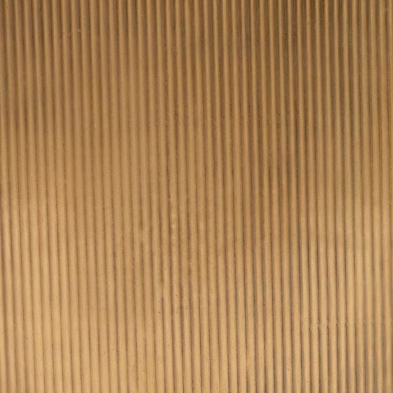 Antique Brass Ribbed Metal