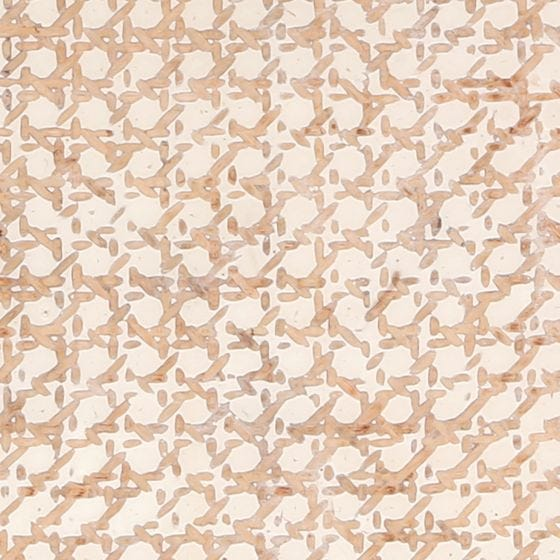 Natural Rattan/white Resin Swatch